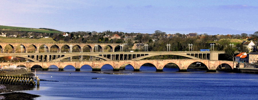 Berwick-upon-Tweed's three bridges