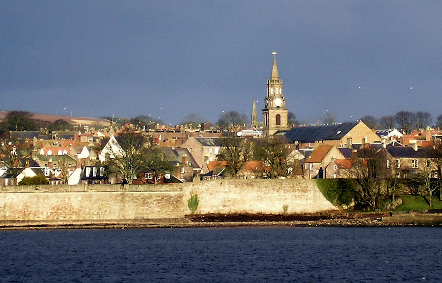 Berwick Town hall and Walls