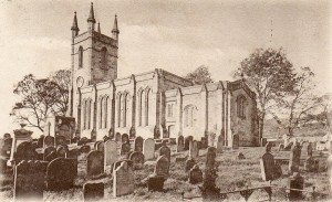 Early postcard of St Mary's Church, Belford.
