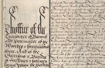 One of the Tudor documents purchased for the Record Office with the assistance of the Friends.