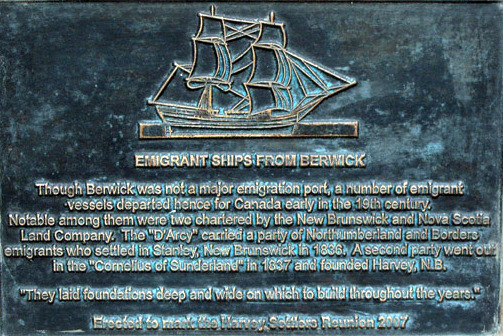 Emigants plaque