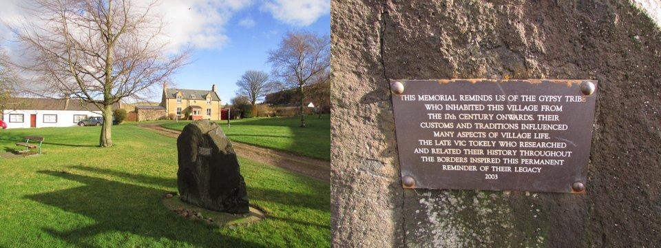 Kirk Yetholm plaque & inscription
