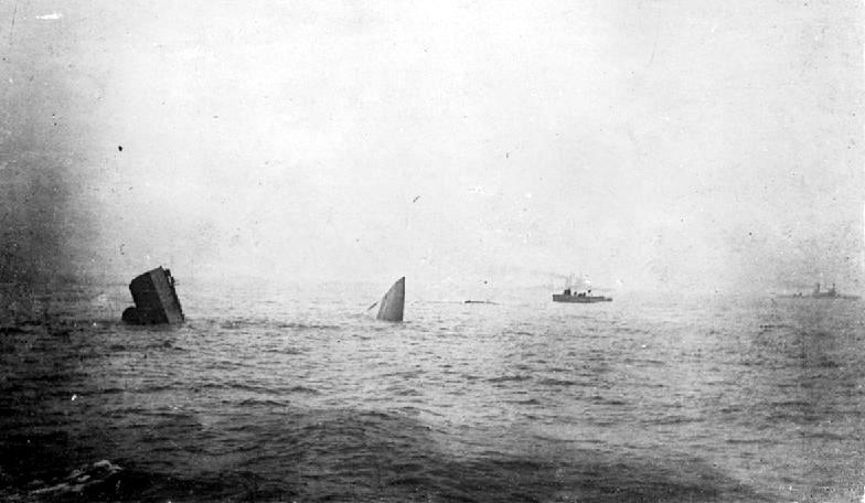 HMS Invincible sinking