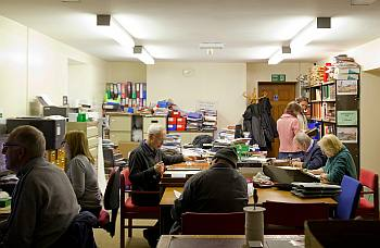 Berwick record office workroom