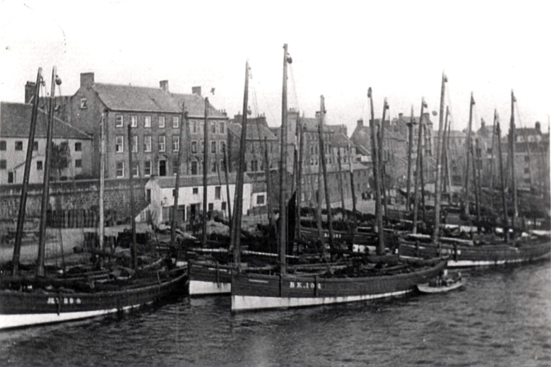 Herring Fishing Fleet at Berwick Quayside