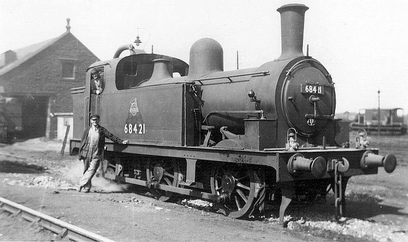 Tweedmouth Shed Class J77 0 9 0T 68421, 22nd August 1953
