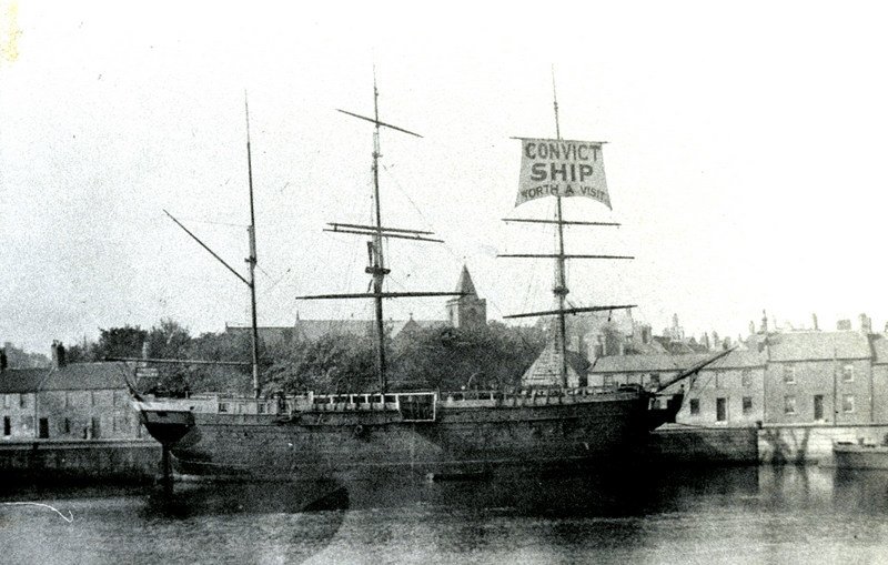 Convict Ship in Tweed Dock