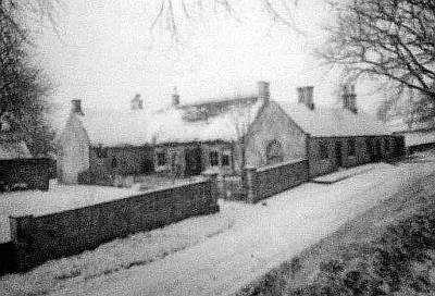 Pallinsburn Cottage in snow
