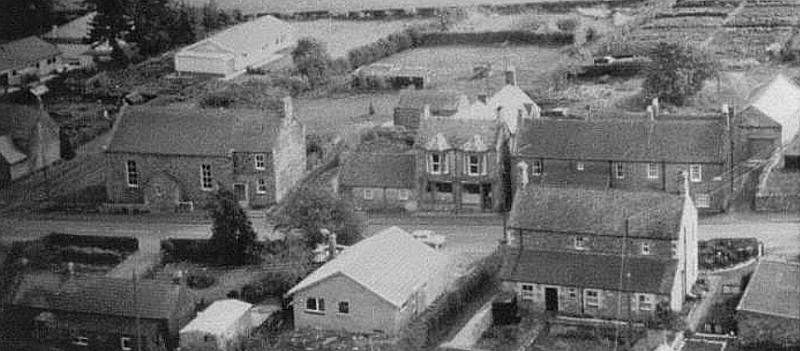 Lowick-aerial view of house